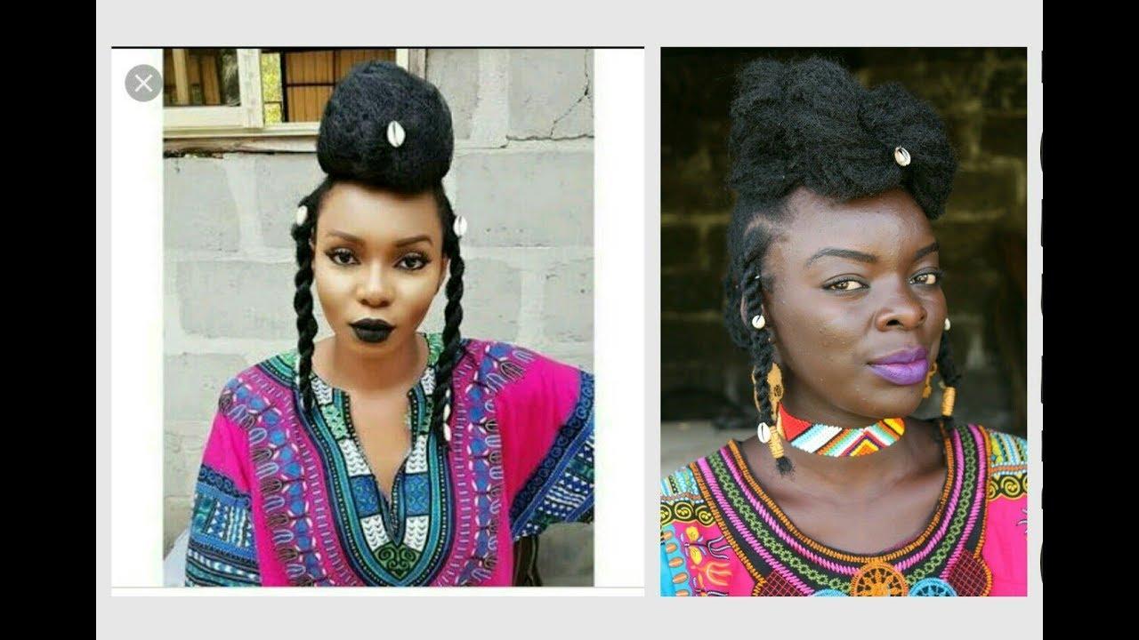 Yemi Alade Inspired Hairstyle On Short Hair Woodabe Fulani Nywele Chronicles