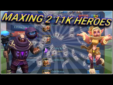 A Day In A Sponsored Guild And MAXING 2 11K HEROES #LordsMobile