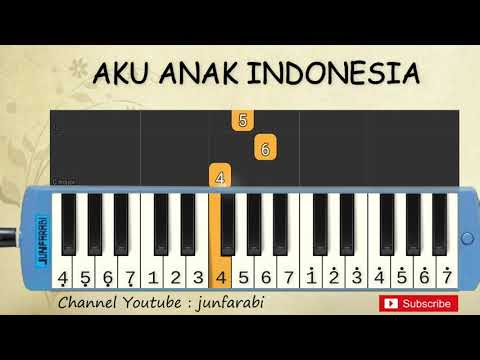 Not Pianika Aku Anak Indonesia - Tutorial Belajar Pianika Lagu Anak - Not Angka