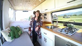 She Sold Her Boston Condo To Live Full Time In This Beautiful Sprinter Camper Van