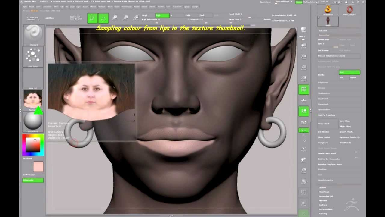 Easy Skin Painting in ZBrush