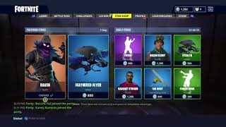 FREE!! NEW RAVEN SKIN RELEASED FORTNITE BATTLE ROYALE PURCHASE CHECK OUT BEFORE BUYING! 2000 VBUCKS