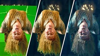 """""""Гарри Поттер и Дары Смерти"""" До и После спецэффектов"""