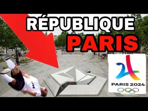 Je SKATE au VOLCOM RÉPUBLIQUE Paris le Meilleur Spot Du MONDE !!