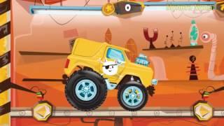 Желтая машинка MONSTER TRUCK  Машинки для мальчиков  Мультфильмы про машины