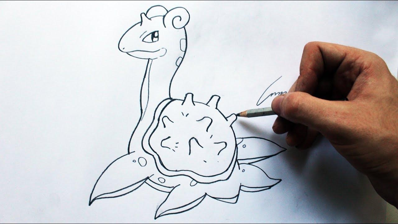 Como Desenhar Um Lapras Pokemon How To Draw Lapras Pokemon