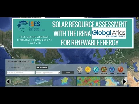 Webinar: Solar Resource Assessment with the IRENA Global Atlas for Renewable Energy
