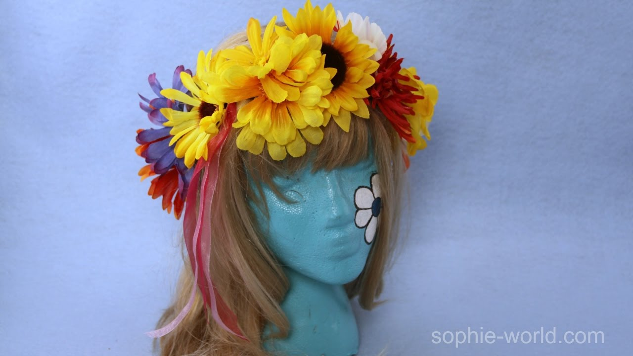How to make a flower headband from silk flowers sophies world how to make a flower headband from silk flowers sophies world youtube izmirmasajfo