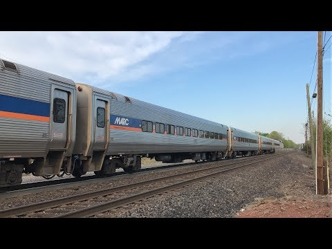 NJ Transit HD 60fps: Leased MARC Cars First Day In Revenue Service on Raritan Valley Line (5/7/18)