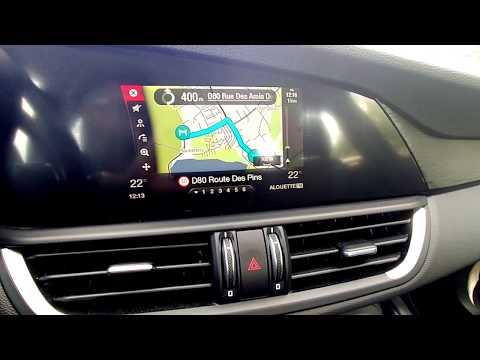 Alfa Romeo Giulia : utilisation du GPS