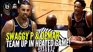 DeMar DeRozan & Nick Young Team UP! DeMar Throws Ball AT REF In HEATED Drew League Game! thumbnail