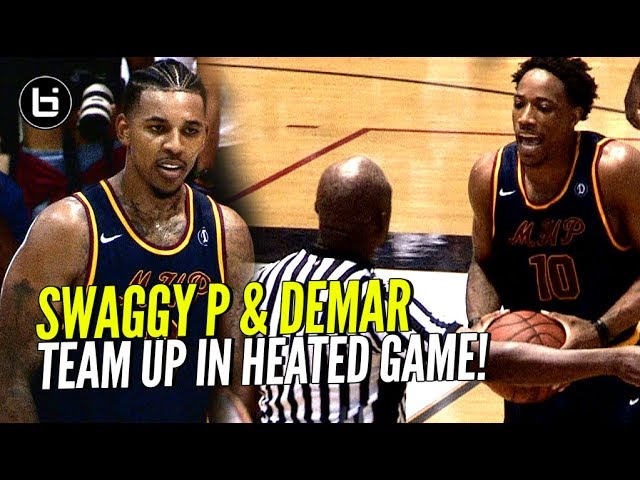 DeMar DeRozan & Nick Young Team UP! DeMar Throws Ball AT REF In HEATED Drew League Game!