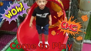 Indoor Playground for Kids | Wheels on The Bus | Learning Colors for Kids