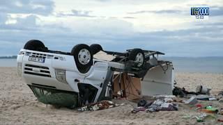 Maltempo, danni e feriti a Pescara. A Taranto precipita gru ex Ilva. In Grecia 6 morti
