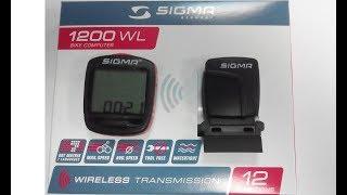 обзор велокомпьютера  sigma 1200 WL