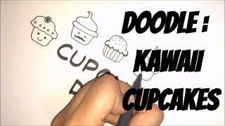 Doodle with me - Kawaii cupcakes