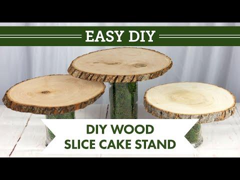 DIY Wood Slice Cake Stand | BalsaCircle.com