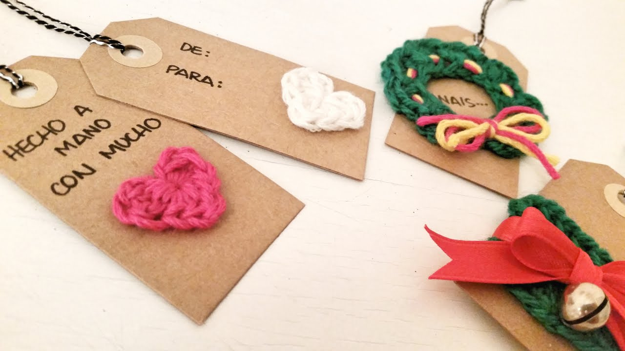 Ideas de etiquetas de navidad con crochet christmas tags ideas with crochet youtube - Ideas para regalos en navidad ...