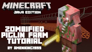 Minecraft 1.16 Zombified Piglin Farm tutorial | Amen King