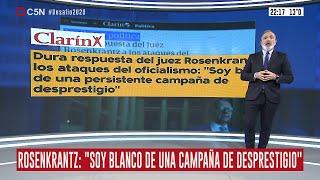 El juez Carlos Rosenkrantz contraataca: análisis de Pablo Duggan