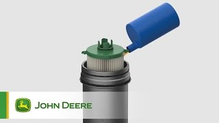 John Deere Parts: original hydraulic filter cartridge with housing