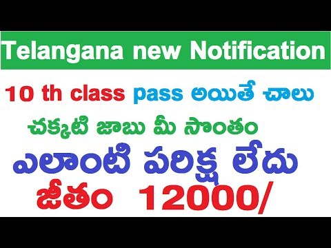 Telangana Anganwadi Recruitment 2017 Notification|Govt Jobs||Ttube Telugu