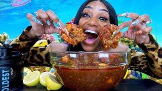 Giant Shrimp Boil Smackalicious Mukbang