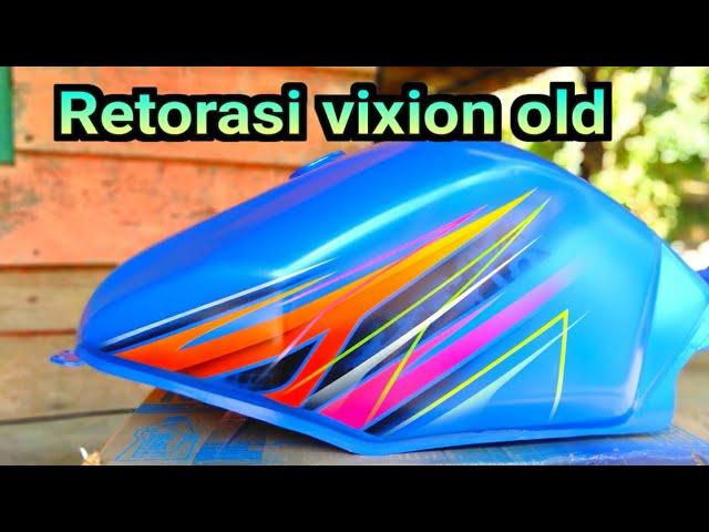 Motif Airbrush Vixion