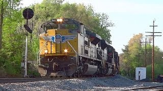 Union Pacific SD70ACe Leading Norfolk Southern in Shenandoah Junction