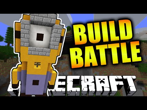 Minecraft TEAM BUILD BATTLE #5 'MINION!' with Vikkstar123 & Woofless