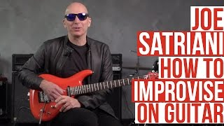 Joe Satriani Guitar Lesson - Using Different Styles to Improvise