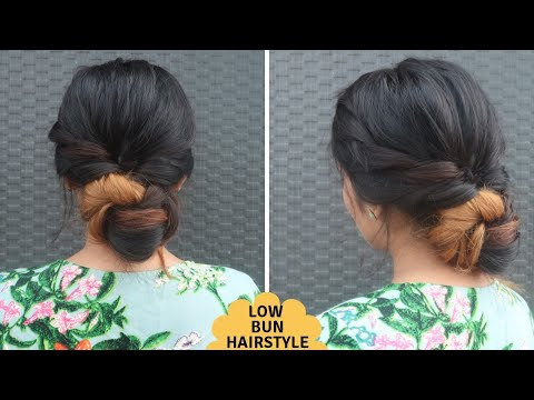 Repeat Low Bun Hairstyle For Indian Festivals Low Juda