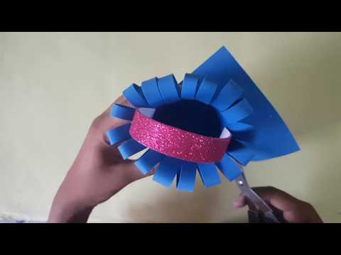 Paper Basket Making | How to make a basket at home step by step