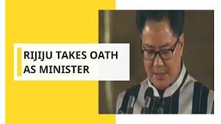 Kiren Rijiju takes oath as cabinet minister