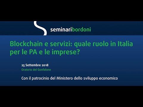 Blockchain e servizi in Italia. Il videoreportage del Seminario FUB