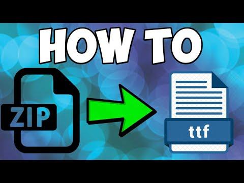 How To Change ZIP To TTF