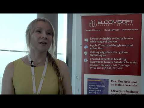 From DIC Zurich, June 2017: a chat with Olga Koksharova of Elcomsoft