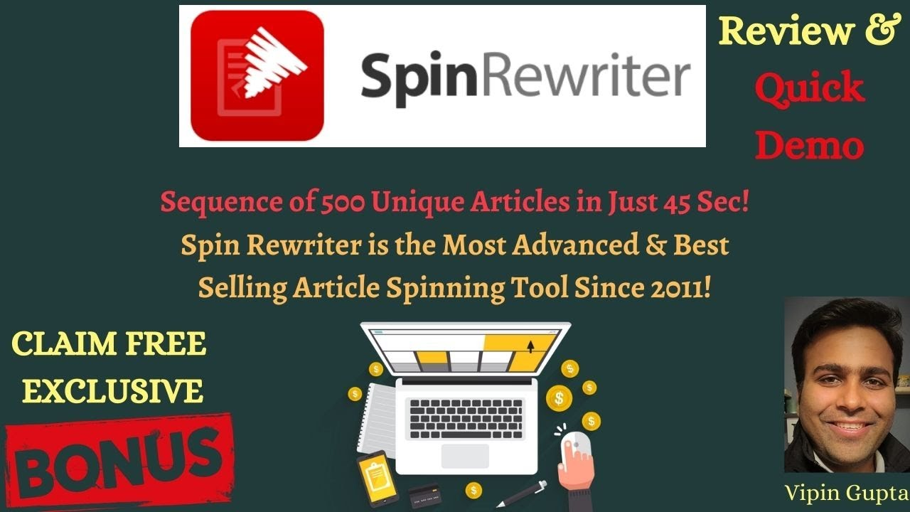 Download ✍️ ''Spin Rewriter'' Review + Bonus Bundle 🛑500 Unique Articles in 45s! Check It Out 🎁