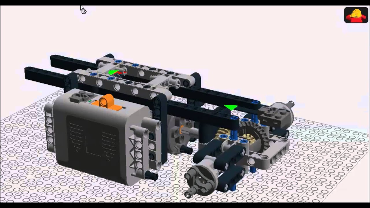 lego technic lifting ramp building instructions 1 chassis youtube. Black Bedroom Furniture Sets. Home Design Ideas
