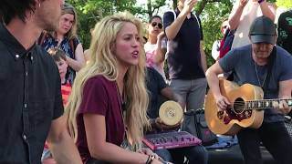 shakira   chantaje  live in washington square park   en vivo en washington square park
