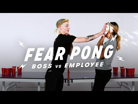 Boss & Employee Play Fear Pong (Brit vs. Dheyvi) | Fear Pong | Cut