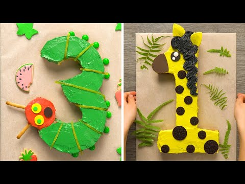 10 Amazing Number Themed Dessert Recipes | DIY Homemade Number Buttercream Cupcakes | So Yummy Cake