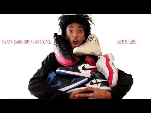 15 year olds HUGE JORDAN SNEAKER COLLECTION ! (over 15 pairs)