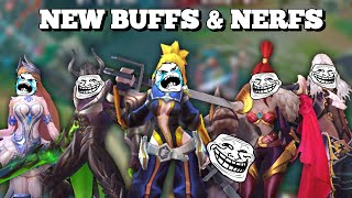 FANNY BIG NERF COMING | NEW BUFFS AND NERF IN THE NEXT UPDATE | MOBILE LEGENDS