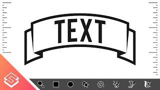 Inkscape Tutorial: Create a Curved Ribbon with Text