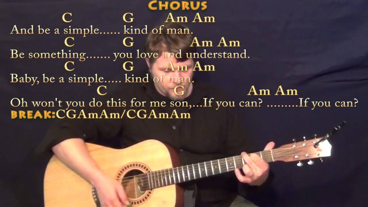how to play simple man on guitar shinedown