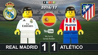 Real Madrid vs Atletico Madrid 1-1 • LaLiga 2017 (08/04/2017) goal highlights Lego Football