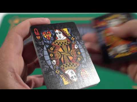 Baraja Bicycle Stained Glass Phoenix Deck video