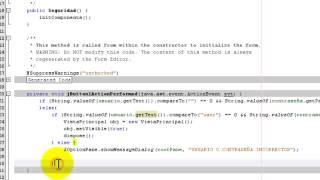 Como poner usuario y contraseña en una ventana en netbeans JAVA.cc