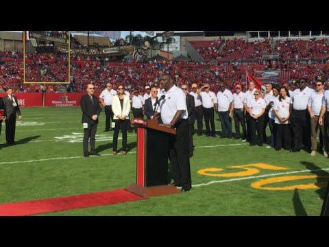 Doug Williams Bucs Ring Of Honor Ceremony